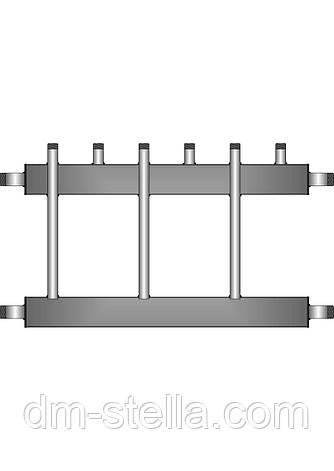 Коллекторная балка 3 контура вверх (вниз)  до 180 кВт, фото 2