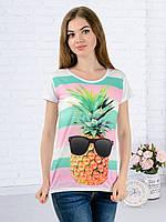 Женская футболка принт фото K3138
