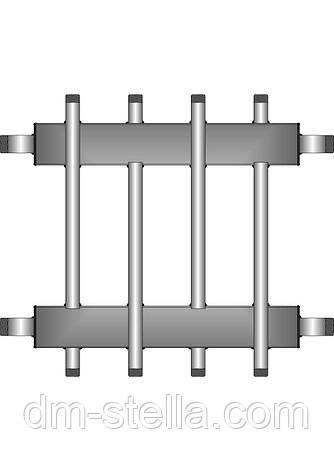 Коллекторная балка 2 контура вверх (вниз) 2 контура вниз (вверх)  до 180 кВт, фото 2