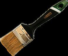 """Кисть флейцевая тип Английская натуральный ворс пластиковая ручка 1"""" HTtools (кисти малярные)"""