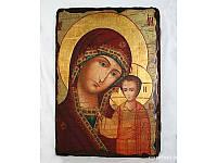 Икона под старину Казанская 4