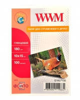 Бумага фото WWM 10смх15см глянцевая 180г/м 100л