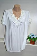 Элегантная летняя  футболка хорошего качества большой размер, фото 1