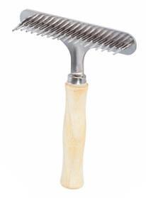 Расческа-грабли деревянная, однорядная, большая