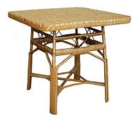 Юбилейный плетенный столик из лозы ЧФЛИ 810х810х750 мм