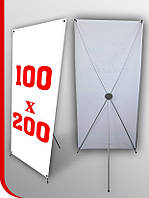 Мобильный стенд Х баннер паук 1х2 м, фото 1