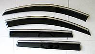 Nissan Terrano / Renault Duster ветровики дефлекторы окон ASP с молдингом нержавеющей стали