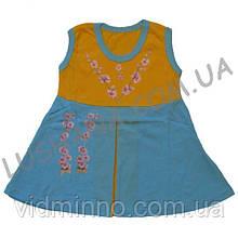 Летнее платье Подсолнухи на рост 80-86 см - Кулир