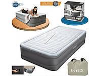 Надувная кровать со встроенным насосом intex 64472