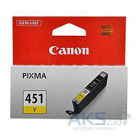 Картридж Canon CLI-451 для PIXMA MG5440/MG6340 (6526B001) Yellow