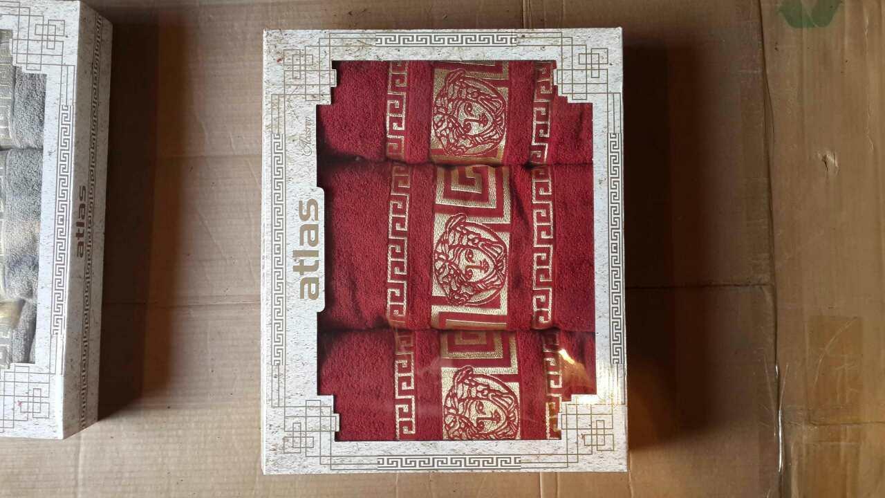 Набор махровых полотенец 3-ка для лица и тела