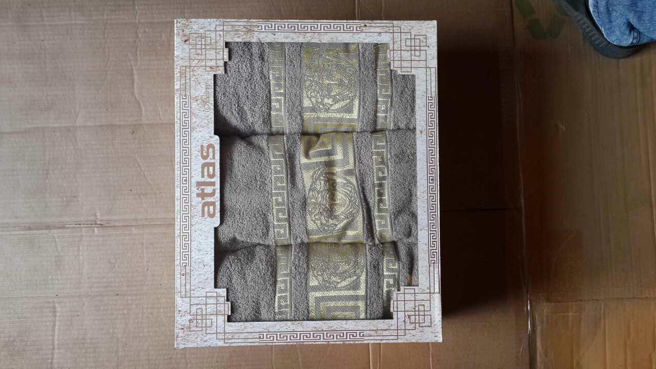 Набор махровых полотенец 3-ка турецкие