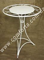 31929 Флора, столик круглый разборный с декоративной столешницей, высота ~ 80 см, диаметр ~ 60 см