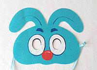 Карнавальная маска Крош для сюжетно ролевых детских игр Смешарики