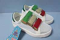 Детские кроссовки Панда белые (7708) код 0590А