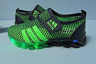 Детские кроссовки MH-XTN сине-зеленые(1720) код 0588А
