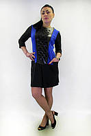 Платье   FLF  First Lend Fashion Кожа Кармани Цвета