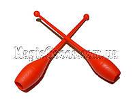 Булава гимнастическая 41см,  Красный