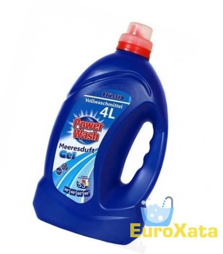 Гель для стирки Power Wash Vollwaschmittel (4 л)