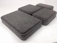 Тратуарная плитка Золотой мандарин Старый город Черный цвет на сером цементе нагрузка:4 см(94 кг/м2)Область применения: пешеходная зона