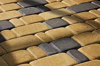 Тратуарная плитка Золотой мандарин Старый город Горчичный цвет на сером цементе нагрузка:4 см(94 кг/м2)Область применения: пешеходная зона