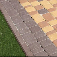 Тратуарная плитка Золотой мандарин Старый город Коричневый цвет на сером цементе нагрузка:4 см(94 кг/м2)Область применения: пешеходная зона