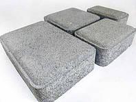 Тратуарная плитка Золотой мандарин Старый город Серый цвет на сером цементе нагрузка:4 см(94 кг/м2)Область применения: пешеходная зона