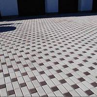 Тратуарная плитка Золотой мандарин кирпич стандартный (200х100) Серый цвет на сером цементе нагрузка:4 см(94 кг/м2)Область применения: пешеходная зона