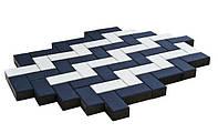 Тратуарная плитка Золотой мандарин кирпич стандартный (200х100) Белый цвет на белом цементе нагрузка:4 см(94 кг/м2)Область применения: пешеходная зона