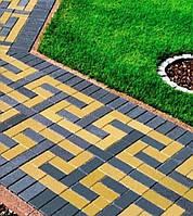 Тратуарная плитка Золотой мандарин кирпич стандартный (200х100)  Желтый цвет на белом цементе нагрузка:4 см(94 кг/м2)Область применения: пешеходная