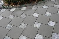 Тратуарная плитка Золотой мандарин Старая площадь Плита (300х300)  цвет на сером цементе  нагрузка:4 см(94 кг/м2)Область применения: пешеходная зона