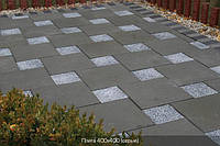 Тратуарная плитка Золотой мандарин Плита (300х300)  цвет на сером цементе нагрузка:4 см(94 кг/м2)Область применения: пешеходная зона
