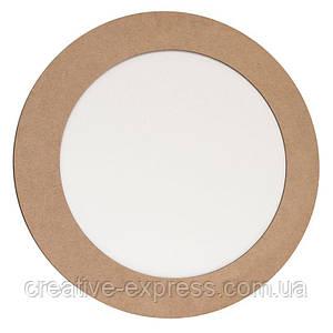 Полотно на картоні, кругле, Ø40 см, в багетній рамі з МДФ 5см, ROSA Talent