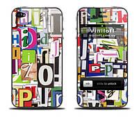 """Наклейка на iPhone 5,5S / 4,4S / 3Gs,3G / 2G """"Журнальные буквы"""""""