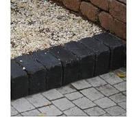 Тратуарная плитка Золотой мандарин Кирпич Антик (160х160) полный прокрас Черный цвет на сером цементе нагрузка: 9 см(202 кг/м2)бесшовная плитка