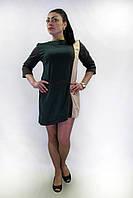 Платье   FLF  First Lend Fashion Мазайка Прямое Цвета L, Бутылочный