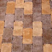 Тратуарная плитка Золотой мандарин Кирпич Антик (160х160) полный прокрас Желтый цвет на белом цементе нагрузка:9 см(202 кг/м2)бесшовная плитка Область