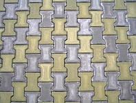Тратуарная плитка Золотой мандарин Двойное Т  (140х125) Горчичный цвет на сером цементе нагрузка:10 см (235 кг/м2) бесшовная плитка Область