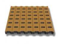 Тратуарная плитка Золотой мандарин Двойное Т  (140х125) Персиковый цвет на сером цементе нагрузка:10 см (235 кг/м2) бесшовная плитка Область