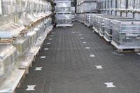 Тратуарная плитка Золотой мандарин Двойное Т (140х125) Черный цвет на сером цементе нагрузка:10 см (235 кг/м2) бесшовная плитка Область применения:
