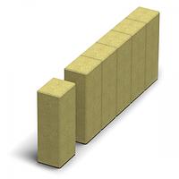 Золотой мандарин Поребрик фигурный квадратный (500х250х80) Горчичный  цвет на сером цементе Вес 23,3 кг