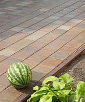 Золотой мандарин Борт дорожный (1000х300х150) Персиковый цвет на сером цементе  Вес 120,0  кг