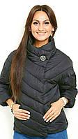 Короткая стеганная демисезонная женская куртка весна-осень