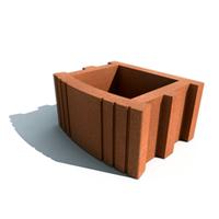 Золотой мандарин Цветочница квадратная (400х500х250) Коричневый цвет на сером цементе Вес 55,8 кг