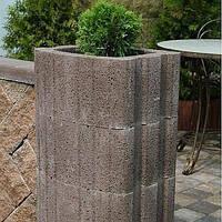 Золотой мандарин Цветочница квадратная (400х500х250) Серый цвет на сером цементе Вес 55,8 кг