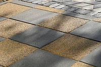 Золотой мандарин Тротуарная плитка Поверхность Эксклюзив ТАНЖЕРИН (гранит на желтом) Квадрат 100х100 толщиной 6 см