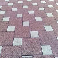 Золотой мандарин Тротуарная плитка Поверхность Эксклюзив КОРАЛЛ (гранит на красном) Квадрат 100х100 толщиной 8 см