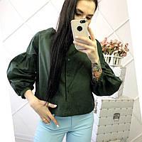 Женская стильная блуза с рукавами фонарик, 3 цвета. АР-2-0620