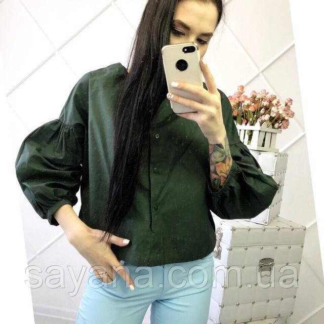 Женская  блуза с рукавами