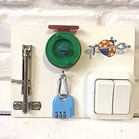 "Развивающая доска для детей ""Mini Busy Board"", по методики Монтессори, размер 15х20, материал ДСП"